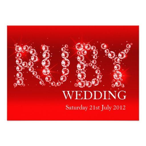 Ruby Wedding Invites