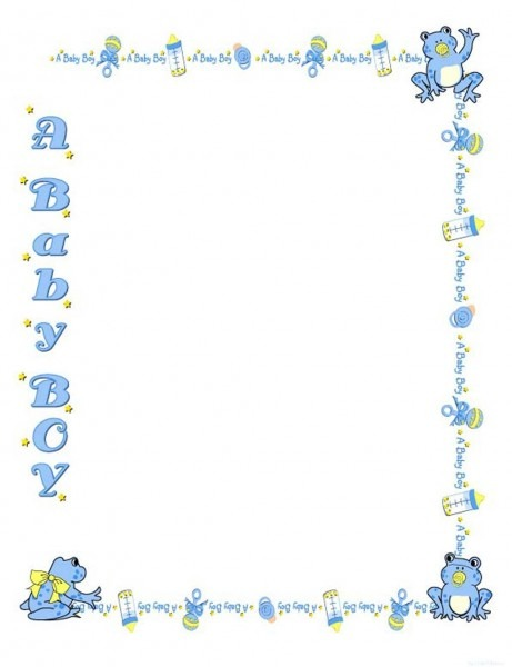 Free Baby Shower Border Templates