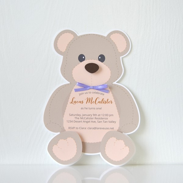 Teddy Bear Invitation – La Reveuse Design