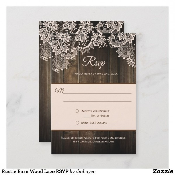 Rustic Barn Wood Lace Rsvp In 2018