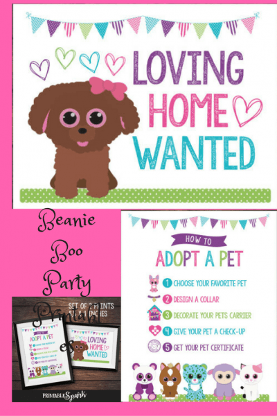 Beanie Boo Adopt A Pet Printables Perfect For Your Beanie Boo