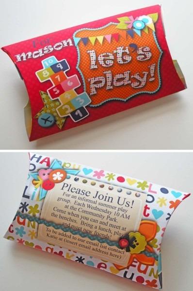 Cute Playdate Invitation Ideas