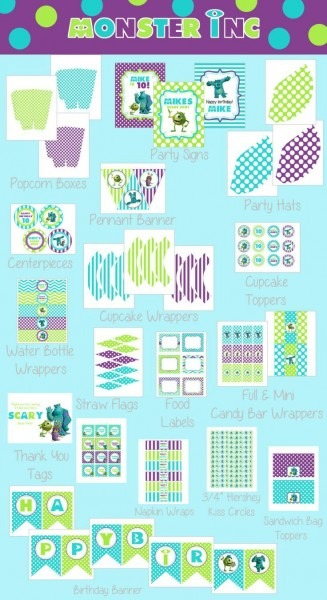 Monsters Inc Party Printables Free