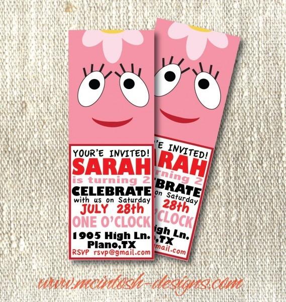 Yo Gabba Gabba Birthday Party Invitations Pdf Printable Ticket