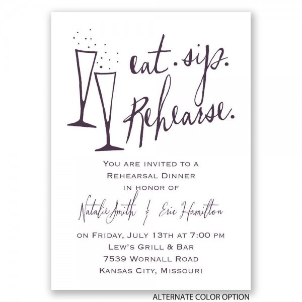 Rehearsal Dinner Invitations Wording