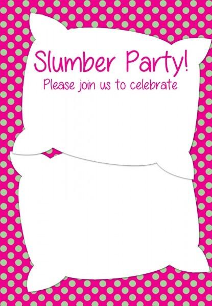 Free Printable Slumber Party Invitation