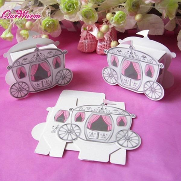Online Shop 100pcs Lot Cinderella Carriage Pumpkin Coach Gift Box