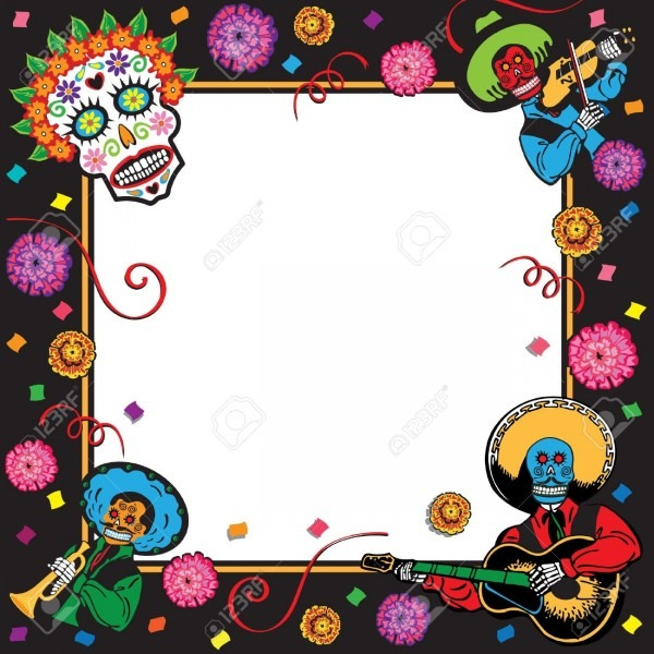 Day Of The Dead Party Invitation Royalty Free Cliparts, Vectors