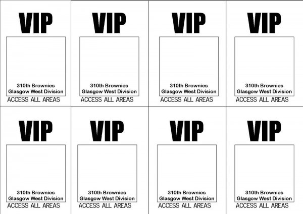 Backstage Pass Template
