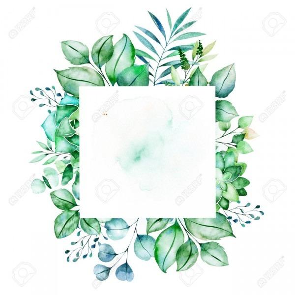 Watercolor Green Illustration Pre