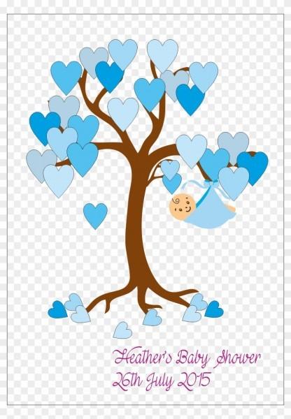 Baby Shower Tree Keepsake Poster Printed Pressies Baby
