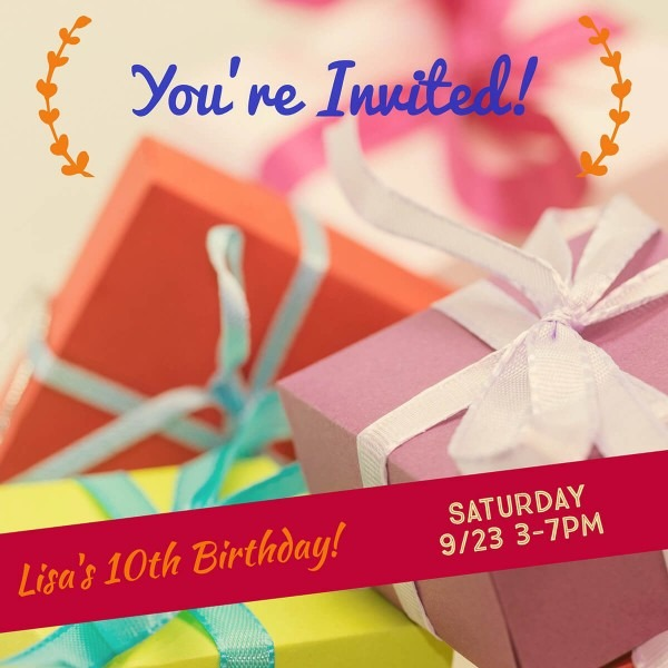 Make Your Own Birthday Invitations For Free