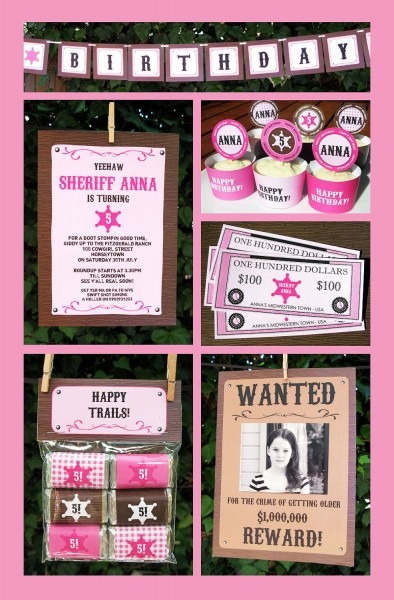 Cowgirl Party Invitations & Decorations