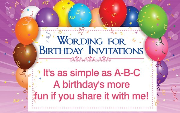 Beautiful Wordings For Birthday Invitation Cards