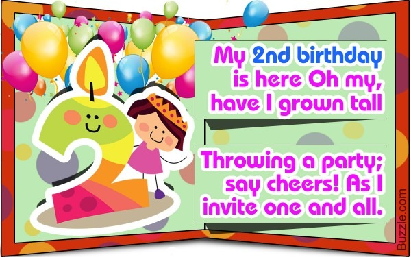 Second Birthday Invitation Wordings That Are Cute And Funny