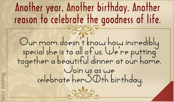Inspiring 50th Birthday Party Invitation Wordings To Choose From