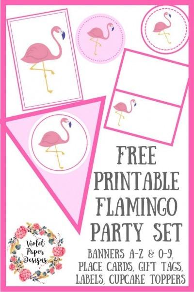Free Printable Flamingo Party Set In 2018
