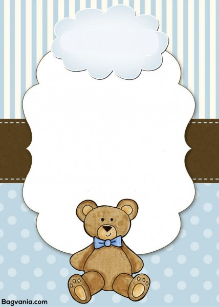 Free Free Teddy Bear Birthday Invitation Templates