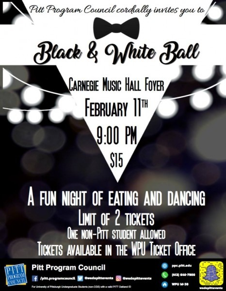 Black And White Ball – Pitt Program Council