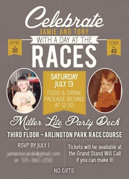 Horse Race Birthday Invitation
