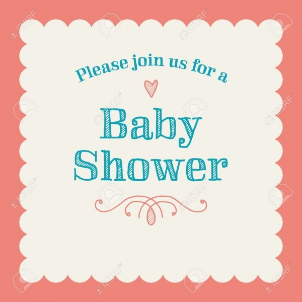 Baby Shower Invitation Card Editable With Type, Font, Ornaments