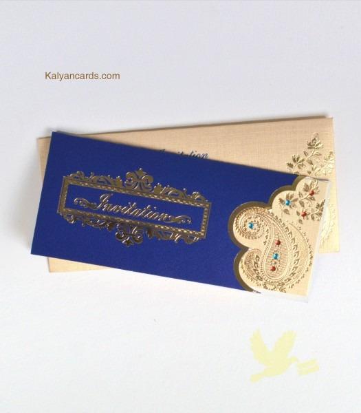 Personal Invitation Cards Cream, Blue In Tirupur