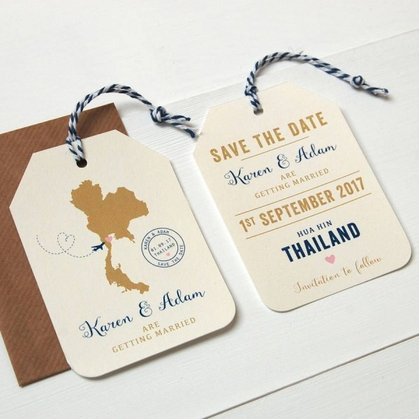 Location Wedding Abroad Save The Date Luggage Tag In 2018