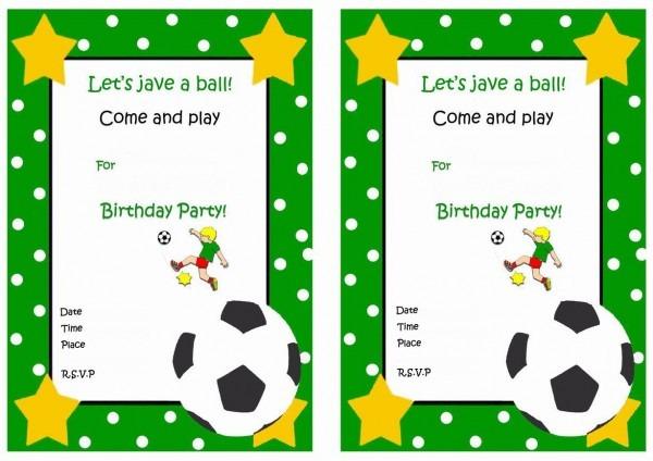 Soccer Free Printable Birthday Party Invitations