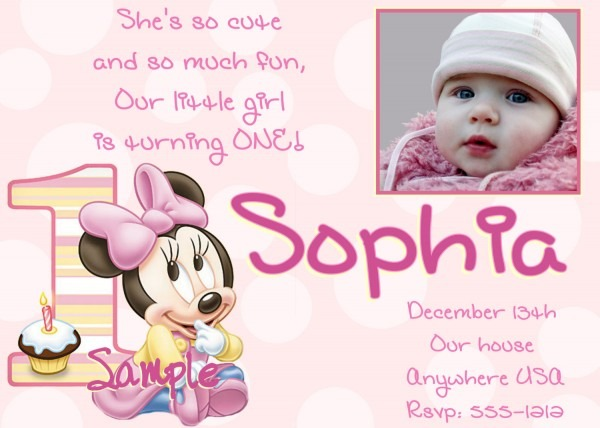 Excellent Baby Girl First Birthday Invitations To Design Birthday