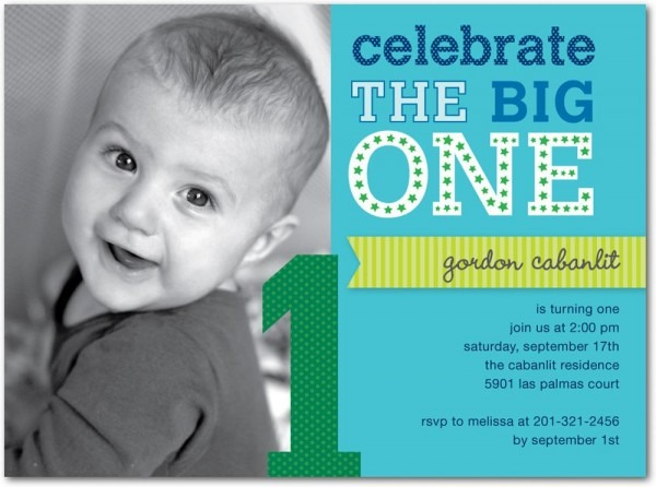 1st Year Birthday Invitation Templates Amazing With 1st Year