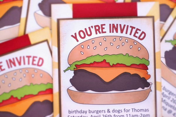 Just Me  Bbq Party Invitations