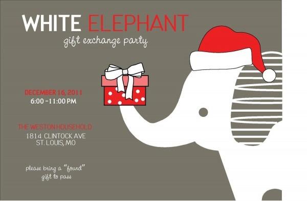 52+ White Elephant Christmas Clipart