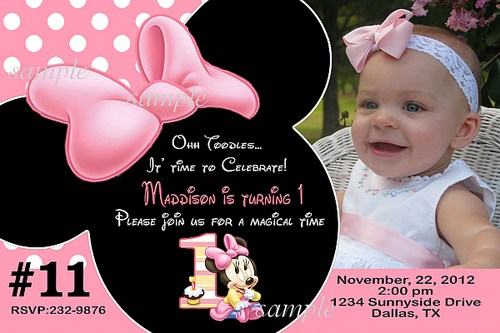 Mouse Birthday Party Invitations For The Design Of Your