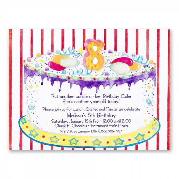 8th Birthday Party Invitations Wording