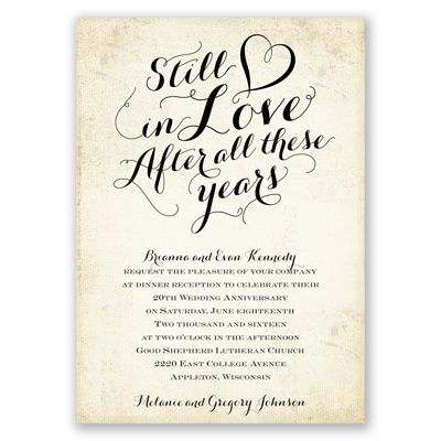 60th Wedding Anniversary Invitation Ideas