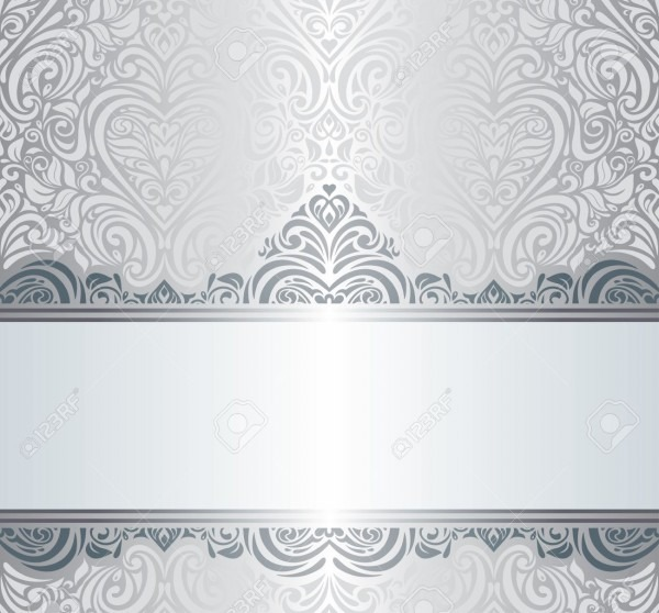 Silver Luxury Vintage Invitation Background Design Royalty Free