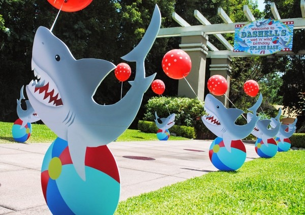 Gwynn Wasson Designs  Wet N Wild Shark Pool Party