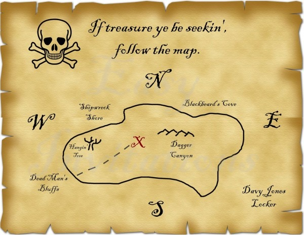 Printable Pirate Treasure Map Best Photos Of Template Blank