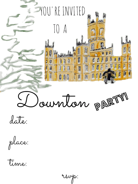 Downton Abbey Party Invitations! Printables Www Fromutahwithlove