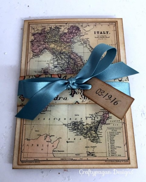 30 New Destination Card Invites With Lace Heart Pocket Inside
