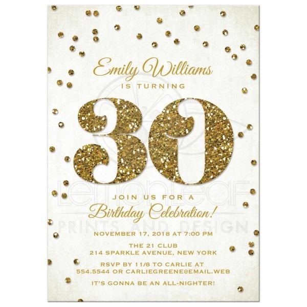 30th Birthday Invitations Zazzle