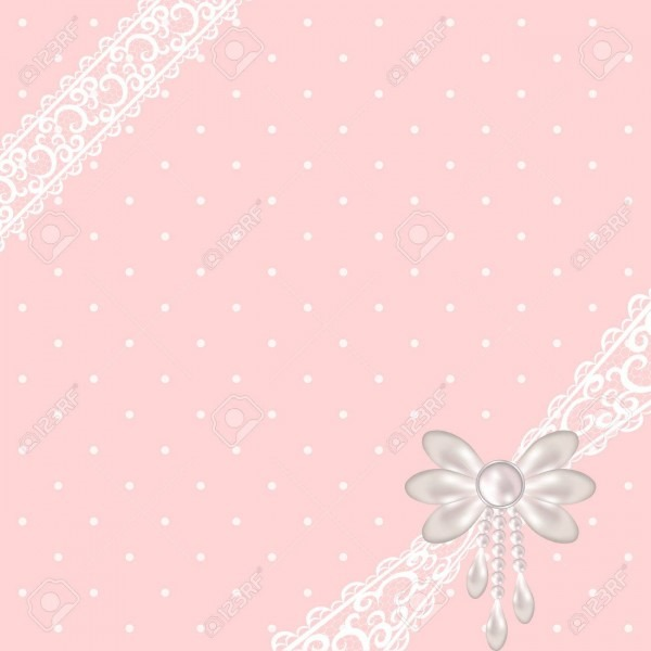 Wedding Or Baby Shower Invitation Or Greeting Card With White