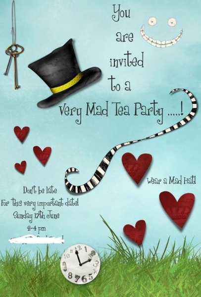 Mad Hatters Tea Party Invitation Template Free