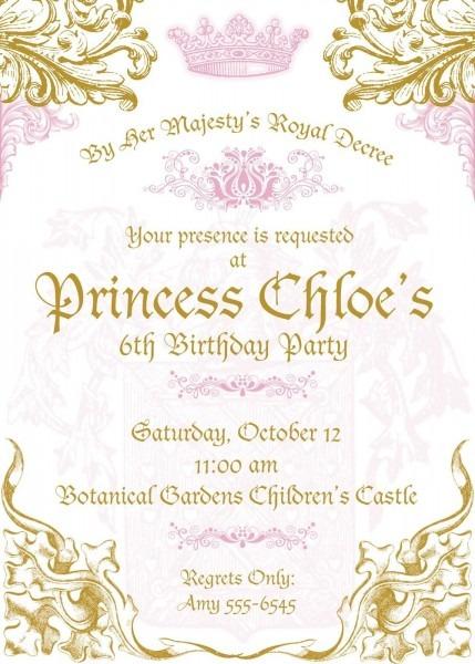 Royal Princess Invitations Digital Download By Rootdown On Etsy