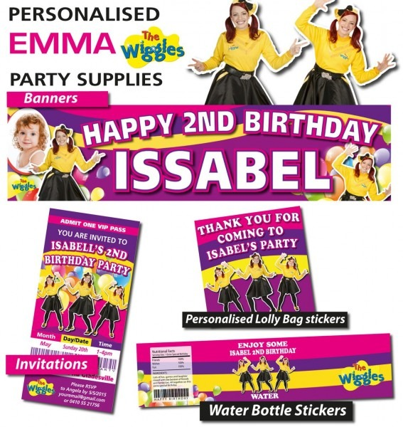 Personalised Emma Wiggles Birthday Party Banner Decorations In