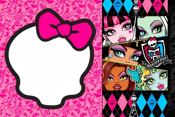 Awesome Free Printable Monster High Birthday Invitations Layout