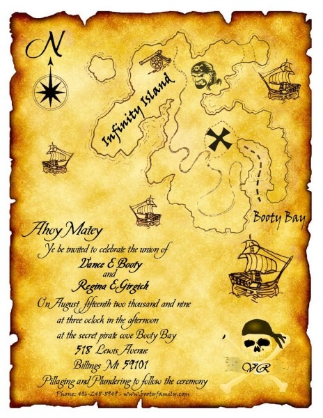 Pirate Wedding Invitation  What A Fun Idea