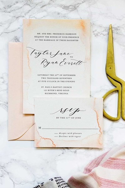 How To Paint Your Own Watercolor Wedding Invitations On A Budget