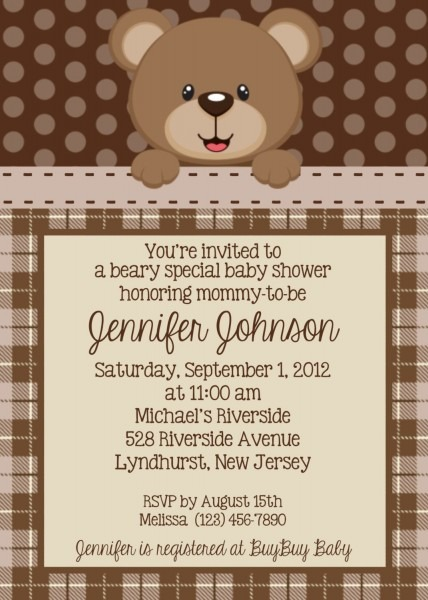 Teddy Bear Invitation