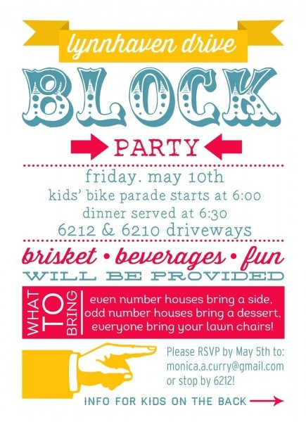Party Invite Template Block Party Invitation Template, Harry